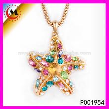 la fábrica de china de la moda colgante de cristal de murano colgante estrellas de mar venta al por mayor