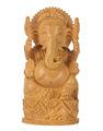 talla de madera ganesha estatua hecha a mano de madera ganesha sulpture