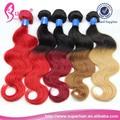 De color de dos tonos tejido de pelo humano, dos tonos de color de pelo de estilo del producto