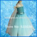 de ganchillo azul de la belleza de tul elsa congelado vestido de fiesta desgaste para los niños de envío gratis