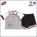 verano ropa de bebé lindo conjunto para los bebés varones de rayas camisa de polo camisetas y pantalones cortos