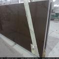Piedra reconstituida brillo marrón piedra de cuarzo 3200*1600*20mm