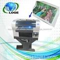 UV digital en blanco de la impresora LED, impresora multifunción de cama plana 3885 UV, impresión de tinta blanca