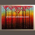 venta al por mayor textura del árbol paisaje moderno pinturas al óleo lienzo