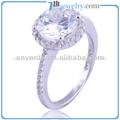 2014 925 venta al por mayor de plata esterlina del anillo de circón aaa anillos de boda