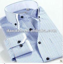rayas camisa causal de los hombres