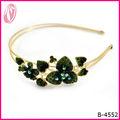 Nuevo maravillosa moda purpurina diamantes de imitación de color diadema