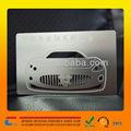 alta calidad tarjetas de visita del metal blanco