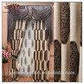 doble capa de estilo cenefa cortina de patrones, de lujo de estilo europeo de la cortina de la ventana