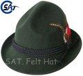 unisex de moda de lana 100% sentía tradicional alemán de Baviera sombrero