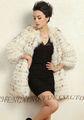 Cx-g-a-220c estilo europeo real de piel de mapache moda ropa de las mujeres
