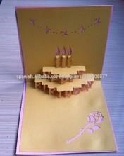 pop-up tarjeta de cumpleaños