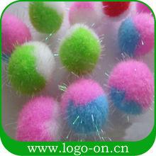 de la felpa juguetes artesanales parte pompón decorativo de acrílico de la felpa pompones