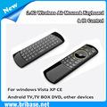2.4g teclado inalámbrico/mini teclado inalámbrico/teclado de computadora para android tv box pc& tablet