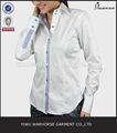 blanco de las señoras ropa de oficina de ropa