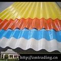 galvanisé prélaqué toiture en tôle ondulée