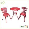 Couleur rouge KD meubles de jardin populaire 3pc US mobilier turc