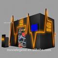 Equipo de la venta caliente 6DOF precio razonable silla cine hidráulica / eléctrica / neumática 7d cine con 2/3/4/6/8/9/12/24/40