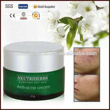 2014 caliente venta de cuidado de la piel la eliminación del acné crema de tratamiento y anti- acné crema de perlas