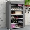 no- tejido de tela a prueba de polvo 6 niveles caliente de la venta de cartón organizador de zapatos con cubierta de tela