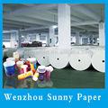 papel revestido del pe en rollo para la taza de papel