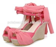 baratos de china sandalias zapatos de mujer zapatos de tacón de cuña cp6528