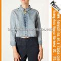 Fabricante de roupas de moda blusas de chifon( hywj222)