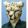 Animal adulto de la cabeza llena de leopardo máscara eco- ambiente máscara de látex