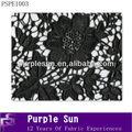 alta qualidade preto laço bordado cortina de tecido