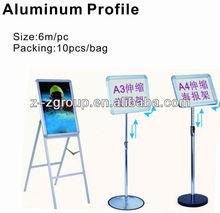 Cartel de aluminio - perfil de marco de aluminio para la publicidad del cartel 6m/3m de aluminio - perfil del cartel
