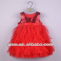 verano 2014 venta caliente nuevo diseño rojo niños vestidos de diseños