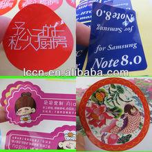 Etiqueta personalizada, etiqueta de la etiqueta, impresión de la etiqueta