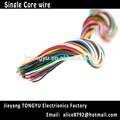 trenzado de cobre del conductor aislado pvc de un solo núcleo de alambre bv cable eléctrico cable de alambre eléctrico