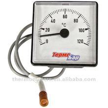 indicador de temperatura del capilar cuadrado