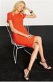 las ventas caliente de color naranja de manga corta de crepe de los patrones de los vestidos de verano y vestido de verano
