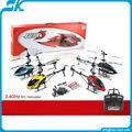 ! 2.4g helicóptero de control remoto 3.5ch giro de aleación de helicópteros rc helicóptero de la aleación