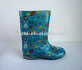 2014 nuevos niños pvc zapatos para la lluvia, botas de lluvia
