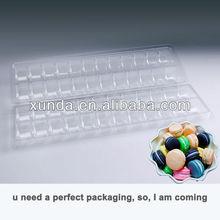 de plástico transparente macarrones empaquetado de la caja