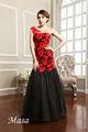 2014 Vendas Quentes!! Vermelho Clássico& Sereia Negra Um- Vestido De Noite Ombro Para Festa De Casamento