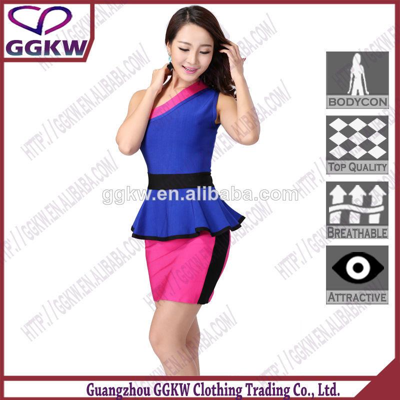 La moda vestido corto, chicas sexy rojo mini vestidos, vestido de artesanía