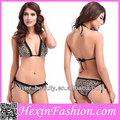 venta al por mayor sexy las mujeres maduras micro bikini de leopardo