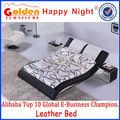 foshan factory outlet mauvais design mobilier de salle de lit en cuir hg884 pleine grandeur