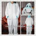 Año mayor para adultos suave cálido pijamas/el último unicornio azul con cremallera frontal de disfraces para adultos