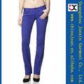 2013 de moda los pantalones vaqueros rectos de color baratos para las mujeres del OEM China Colombia vaqueros denim (JXC29833)