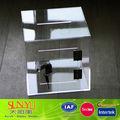 Nueva de plástico transparente caja de caridad con cerradura/personalizado de plástico caja de caridad de la fábrica