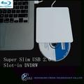 ordenador portátil de plata ranura- en 2.0 usb delgado blu ray super delgado grabadora de dvd externa para el ordenador portátil