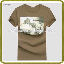 De alta calidad de manga corta de algodón t- shirt de la fábrica de prendas de vestir