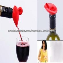 china silicona vino tapón de la botella para el partido, utensilios de cocina de silicona tapón de la botella, botella de tapón