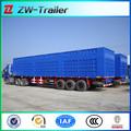 China precio competitivo 3 eje caja de camión semi remolque para la venta, caja de camión semirremolque