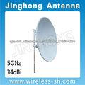 5GHz MIMO Antena 34dBi plato parabólico
